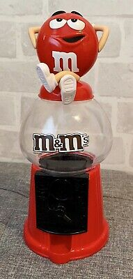 M&M's Red Empty Sweets Chocolates Dispenser 31cm High • 9.99£