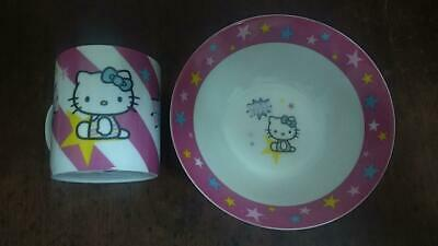 Hello Kitty Bowl And Cup • 7.50£