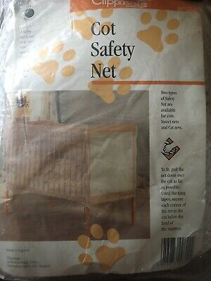 £14 • Buy Clippersafe Cot Safety Net Cat Net Brand New In Pack