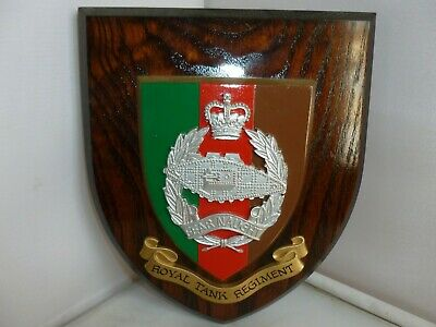 Wooden Military Plaque Royal Tank Regiment • 20£
