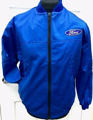 Classic Fully-Lined Ford Badge Bomber Rally BTCC Motorsport Jacket 45.5  Chest • 16£