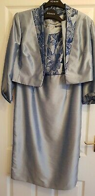 Bnwt Stunning Romain Dress And Jacket Size 14 Special Occasion ? Cost £70 • 25£
