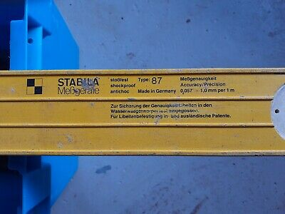 STABILA 87 Spirit Level 1200mm Long In Good Used Condition • 17£