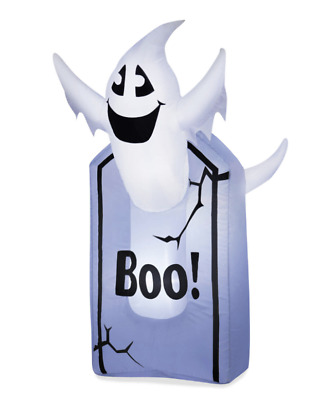 $ CDN48.86 • Buy Tombstone & Ghost Halloween Inflatable 3.5 Ft Gemmy Airblown Party Greeter New