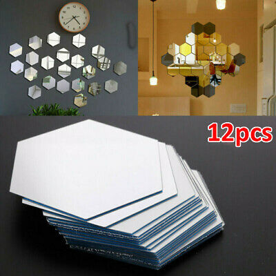 £3.69 • Buy 12PCS Wall Mirror 3D Tiles Mosaic Stickers Self Adhesive Bedroom Art Decal Home