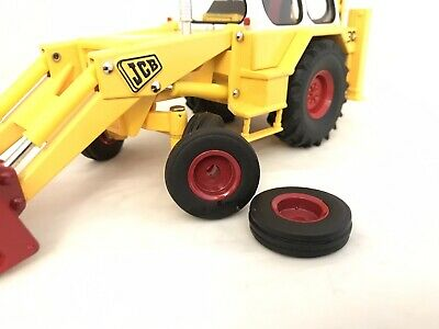 Ribbed Tyres CONVERSION To Fit Britains Jcb 3c Mk3 1/32 Scale 1/32 Farming Modes • 15£