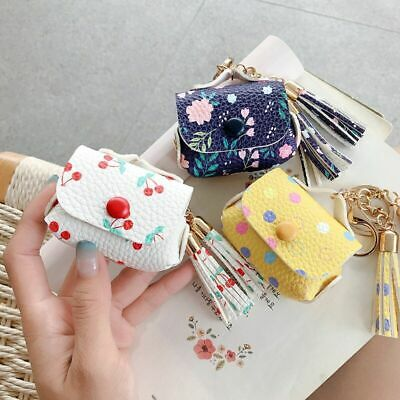 $ CDN5.93 • Buy Lovely Cherry PU Leather Keychain Earphone Case Cover For Apple Airpods Pro 1 2