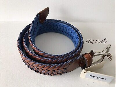 Anderson Woven Men's Leather Belt, Made In Italy • 39.99£