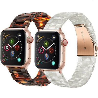 $ CDN17.41 • Buy Tortoise Shell Resin Watch Band Strap Bracelet For Apple Watch Series 1 2 3 4 5