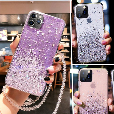 AU7.30 • Buy GLITTER STAR Case For IPhone 11 Pro XS XR X 8 7 Plus Shockproof Protective Cover
