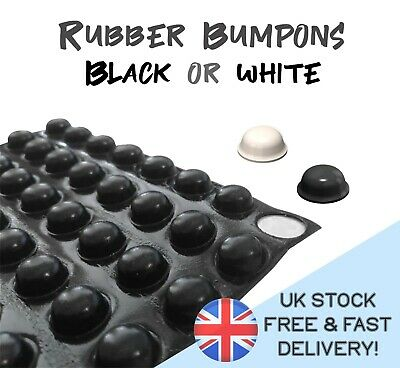 £2.76 • Buy 14 Pcs X 3M RUBBER FEET BUMPONS ~ Self Adhesive Sticky Pads Black White PROTECT