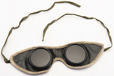$47.50 • Buy Vintage Antique Safety Welding Steampunk Goggles Glasses Spectacles Leather