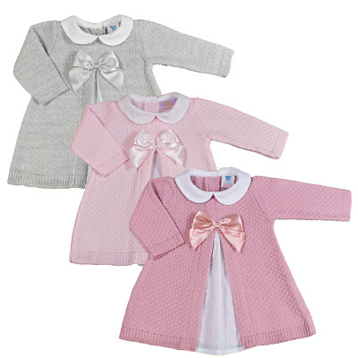 £14.99 • Buy Baby Girl DRESS Knitted Spanish Style BOW