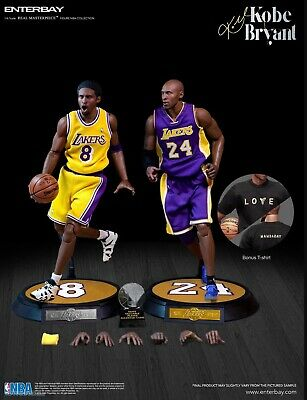 $500 • Buy ENTERBAY NBA Collection KOBE BRYANT LA LAKERS 1/6 Real Masterpiece Figure 2-Pack