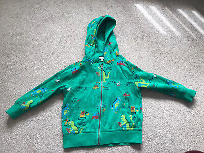 Bluezoo Green Dinosaur Zip Up Boys Jacket, Size 2-3years • 8.99£