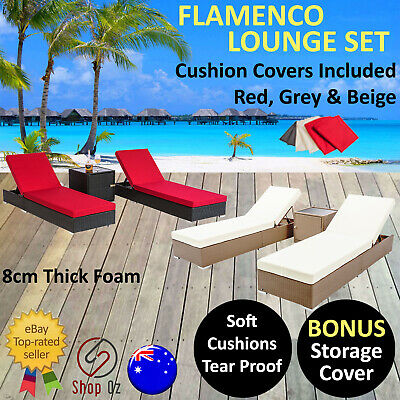 AU629.95 • Buy NEW OUTDOOR SUN LOUNGE LOUNGER Loungers Lounges Sunlounger Pool Furniture Wicker