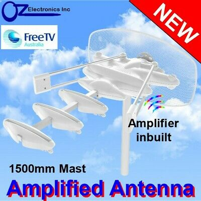 AU54 • Buy Outdoor TV Amplified Antenna UHF VHF FM Caravan RV Camping 1500mm Mast NEW