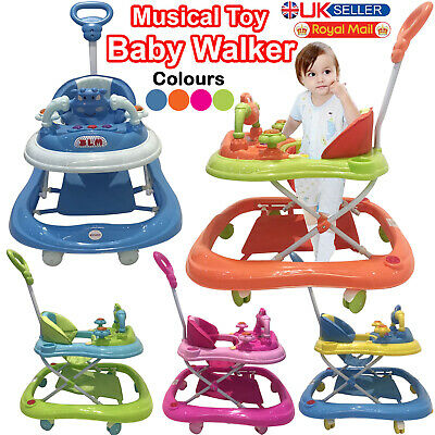 Baby Walker First Step Push Along Bouncer Music Ride On Car Melody Boys Girls • 28.95£