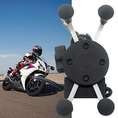 AU22.23 • Buy X-Grip Clamp Motorcycle Bike Car Mount Phone Holder Stand USB Charger For Phone