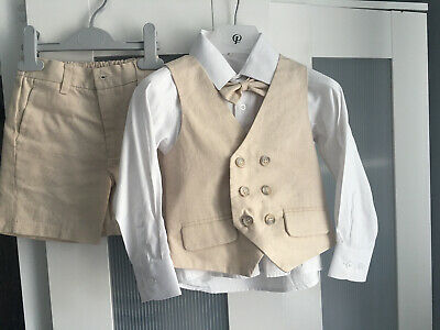 Paisley Boys Cream Short Suit Age 3 Years • 25£