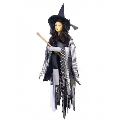 Witches Of Pendle *crystal  Grey Flying Witch 65 Cms  Info Book Pagan/ Occult • 32.50£