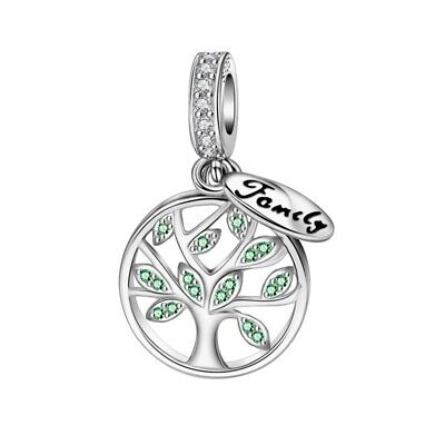AU27.99 • Buy SOLID Sterling Silver Hanging Family Tree Of Life Charm By Pandora's Wish