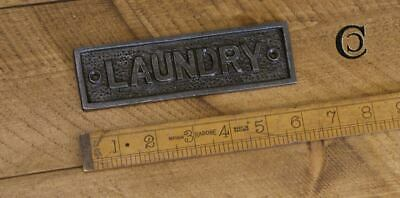 LAUNDRY Cast Iron Wall Sign Rustic Vintage Style Plaque Kitchen Sign  • 9.95£