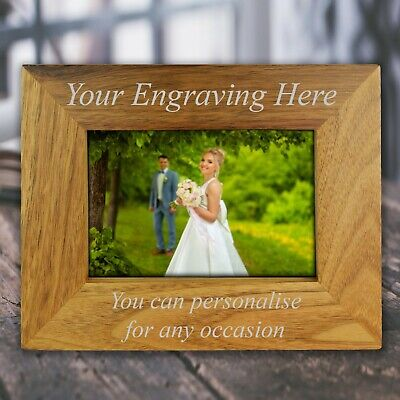 Personalised Engraved Wooden Photo Frame For Birthdays Anniversary Mum Nan Gifts • 9.49£