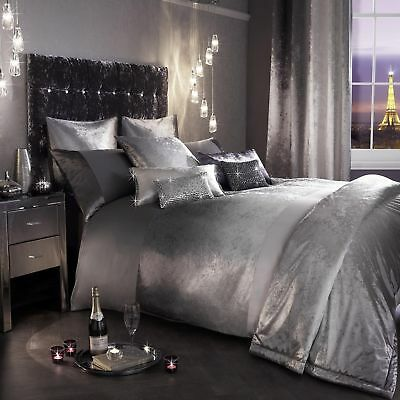 Kylie Minogue OMBRE  Slate Grey Silver Bedding- Duvet, Cushion, Throw Or Curtain • 99£