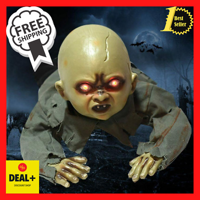 $ CDN54.53 • Buy Halloween Crawling Baby Zombie Dolls Animated Scary Haunted House Decorations