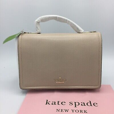 $ CDN129 • Buy Kate Spade NY Bag Maisie Patterson Drive Beige Cement Leather Bag NWT