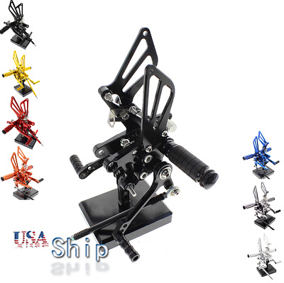 $108.89 • Buy FXCNC CNC Rearset Rearsets Footpegs Pedals Fit