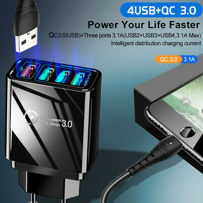 AU6.67 • Buy 4 USB Ports Quick Charger 5.1A Powerful USB Adapter Fast Charger Wall Charge.AU