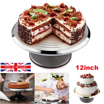 30cm Cake Decorating Rotating Revolving Turntable Kitchen Display Platform Stand • 16.91£