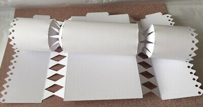 White Crackers Make, Decorate, Fill For Christmas, Wedding, Birthday Etc • 4.95£