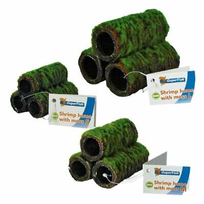 Superfish Shrimp Moss Home Tubes Artificial Pyramid Hide Aquarium Decoration • 7.39£