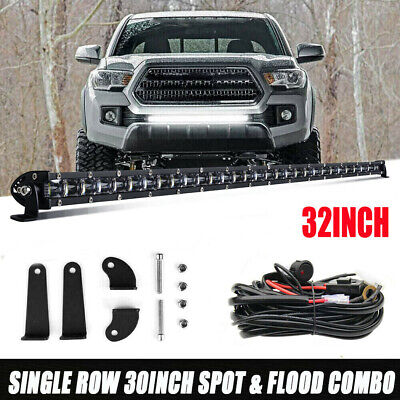 $71.99 • Buy 32  LED Light Bar W/Wiring For 2005-2018 Toyota Tacoma Front Grille Bumper PK 30