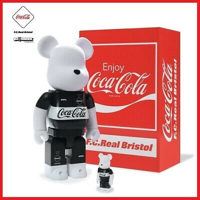 $500 • Buy Medicom Toy BE@RBRICK Bearbrick FCRB 20SS Coca Cola F.C.Real Bristol 100% & 400%
