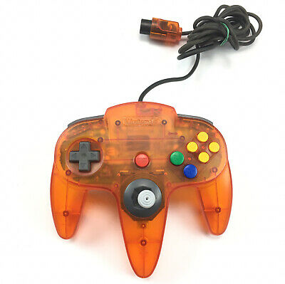 AU84.95 • Buy Genuine Nintendo 64 N64 Controller Fire Orange Clear Transparent Tested