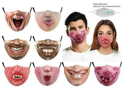 $ CDN11.14 • Buy Halloween Funny Facemask Half Face Mouth Mark HipHop Cospaly Party Filter Mask0