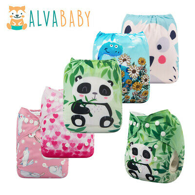 View Details ALVA Baby Cloth Nappies Printing Adjustable Reusable Pocket Diapers Cover 3-15KG • 2.69£