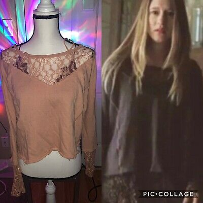 $ CDN93.54 • Buy Free People Terry And Lace Pullover Worn By Violet Harmon