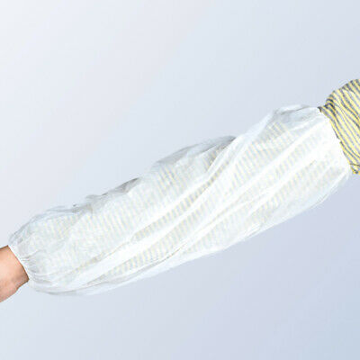 100x Disposable Plastic Arm Sleeves Covers Oversleeves Cleaning Protective Opule • 5.85£