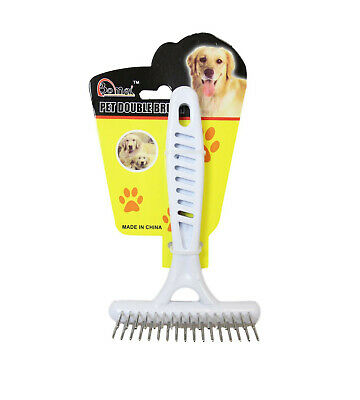 Pet Dog Cat Comb Double Brush Grooming Comb Dematting Tool Undercoat Rake UK • 4.99£
