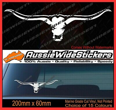 AU6.90 • Buy New 200mm Funny Aussie BNS 4x4 Ute Car Stickers LONG HORN COUNTRY BULL COW STUD