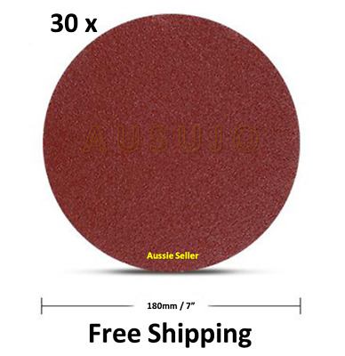 AU33 • Buy 30 X 180mm / 7   40 - 400 Grit Plaster Drywall Sanding Discs Pads Hook Loop