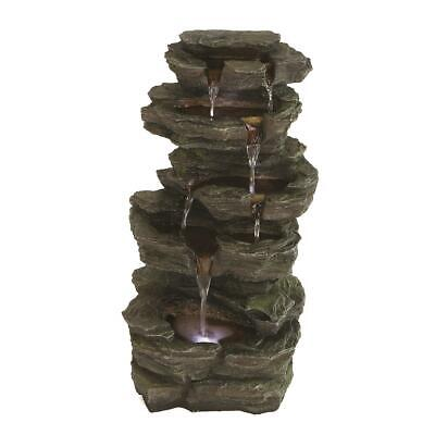 Low Voltage Slate Falls LED Lit Garden Patio Water Feature • 99£