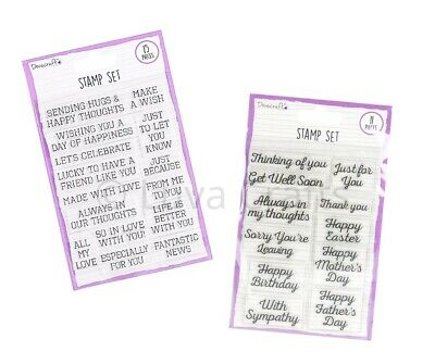 Dovecraft Essentials Unmounted Clear Stamp Set - General Or Occasion Sentiments • 2.99£