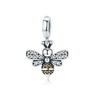 AU25.99 • Buy SOLID Sterling Silver Sparkling Queen Bee Charm Pendant By YOUnique Designs