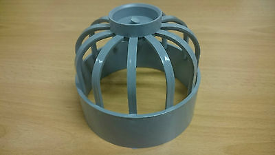 Vent Terminal (Bird Cage)  For Soil Pipe 110mm  4  Cap (hunter) Push Fit S355 • 3£